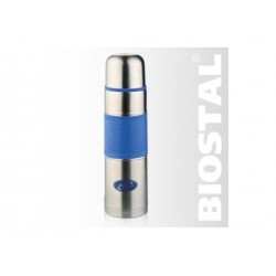Термос Biostal NB-1000 P-B 1,0л (узкое горло, цв. силик. вставка) Голубой